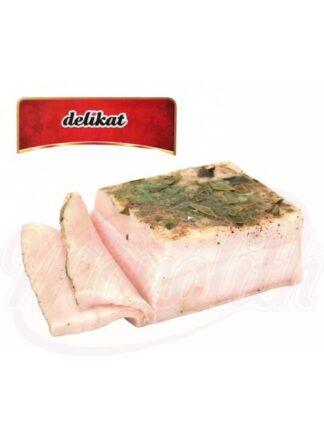 """Salty bacon """"Khutorskaya spicy"""" met knoflook 350 g"""