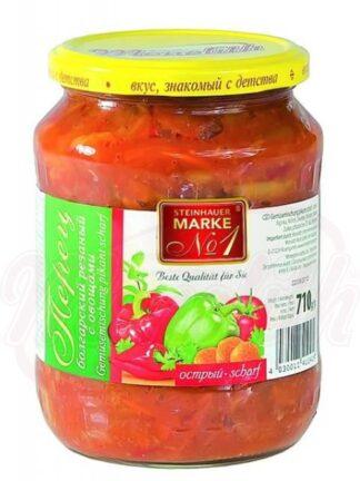 Bulgaarse peper gesneden met groenten, kruidig 710 g