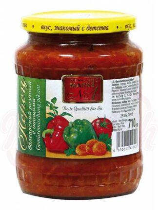 Bulgaarse peper gesneden met groenten 710 g