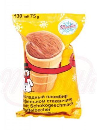 Chocolade-ijs in een wafel cup 130 ml