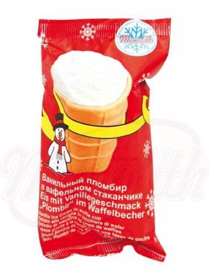 Vanille-ijs in een wafel cup 130 ml