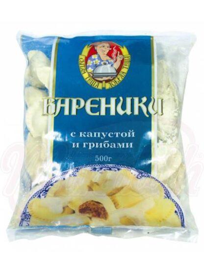 Wareniki met kool en champignons, bevroren 500 g