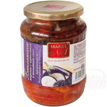 Aubergine Salade met pruimen in tomatensaus 680 g
