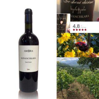 Khvanchkara AMBRA halfzoet-rode premium wijn 2019 12,5%