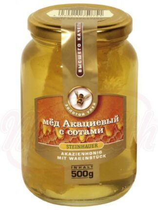 Acaciahoning met honingraat 500 g