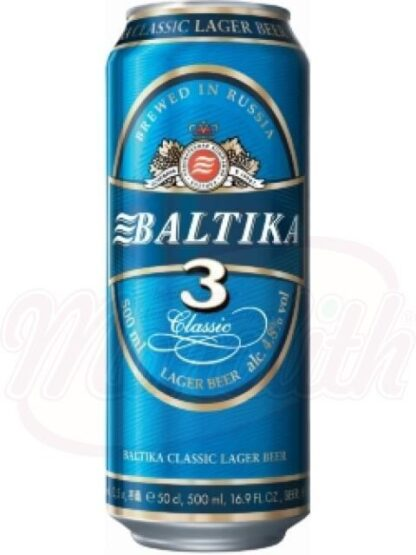 "Bier ""Baltika №3"" 4,8% alc. 500 ml"