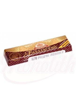 """Chocoladereep, """"Babaev"""" gevuld met chocolade smaak. """" 50 g"""
