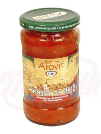 "Groentenrecept met aubergines ""Zacusca cu vinete"" 300 g"