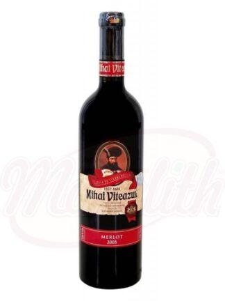 """Rode wijn """"Mihai Viteazul-Merlot"""" demi-sec 0,75 L"""