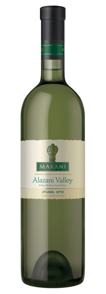 """Wijn """"Alzani Valley"""", wit halfzoet."""