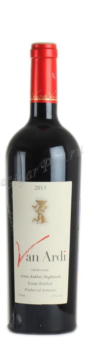 Armeense wijn Van Ardi, rode droge 0,75 L
