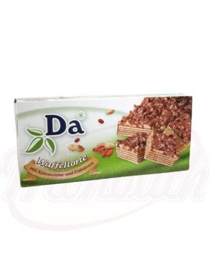 Wafels taart met chocolade en pindas 280 g
