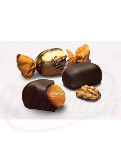 """Chocolade snoepjes """"Abrikozen met walnoten"""