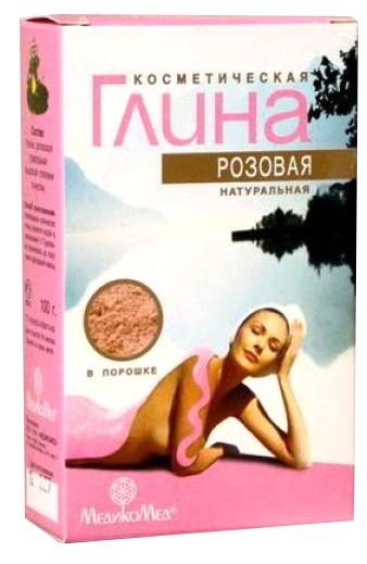 Глина розовая косметическая для раздраженной кожи 100 г