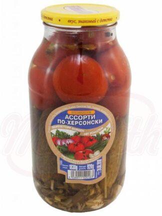 Gemanireerde komkommer met tomaten 1830 g