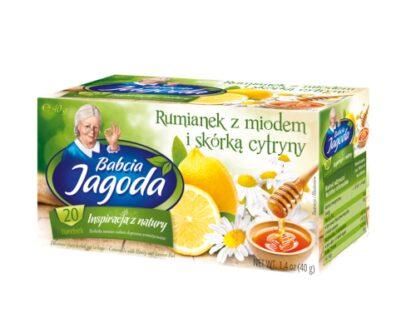 Kamille thee, citroen en honing in zakjes