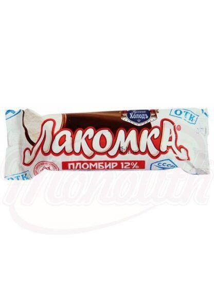 """Ijs """"Lakomka"""" met room smaak in cacao"""