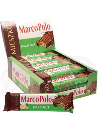 "Wafels ""Marco Polo hazelnoot"" met notenvulling 34 g"