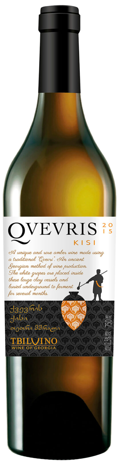 Wijn Qvevris Kisi, oranje, droog 0,75 L