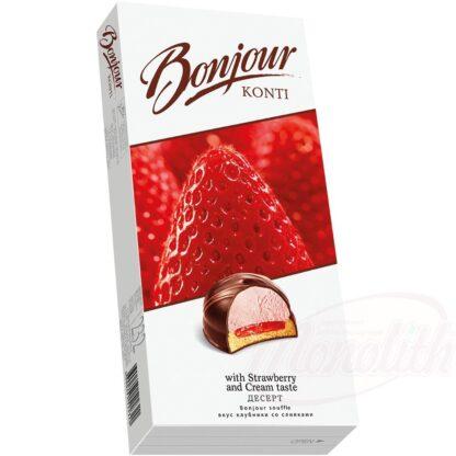 """Dessert """"Bonjour souffle"""", aardbeien- en roomsmaak, 232 g"""