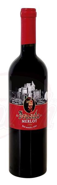 """Rode wijn """"Dracula-Merlot"""" demi-sec 12,5% vol., 0,75 L"""