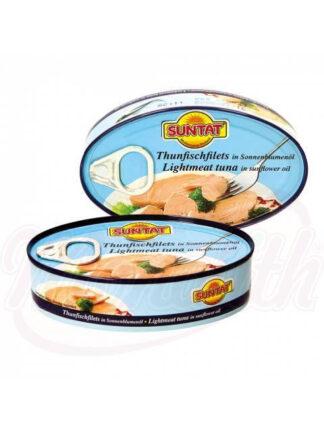 Tonijnfilet in zonnebloemolie, 115 g