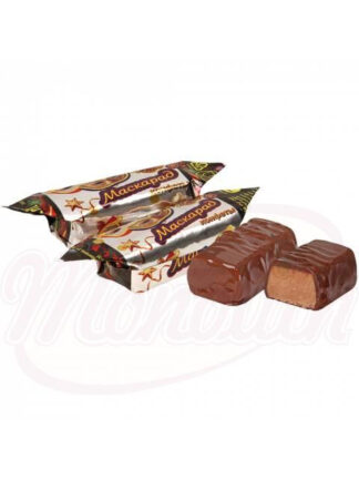 Maskerade snoepjes met pinda's in cacao met glazuur