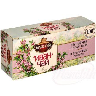Zwarte thee met kleinbloemig wilgenroosje en tijm, 37,5 g