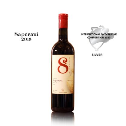 Bio-dynamisch Saperavi Qvevri (8millennium), roode, droge wijn, 0,75 L