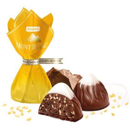 """""""Mont Blanc"""" -snoepgoed met sesam (5,6%) en chocolade (19,6%)"""