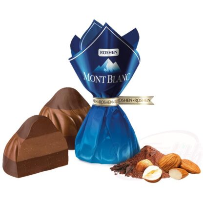 """""""Monblan"""" -snoepgoed in drie lagen, met noten"""