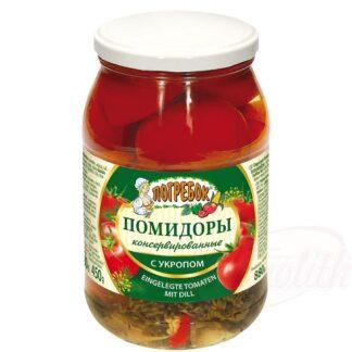 Ingemaakte tomaten met dille, 880 g